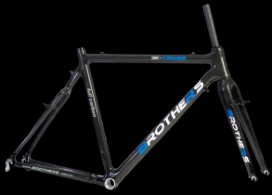 Brothers Vollcarbon Rahmenset 3k Cross