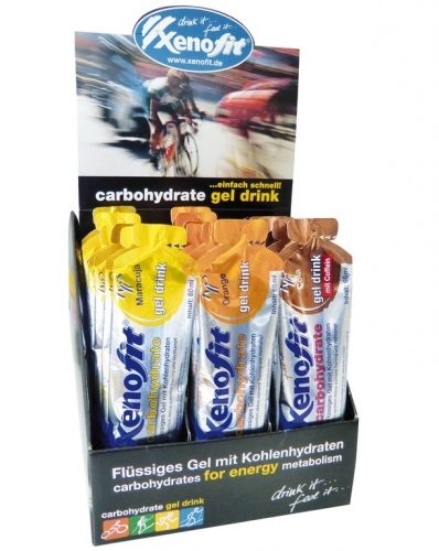 Carbohydrate Gel Drink-Display Xenofit 21 Beuteln á 60ml