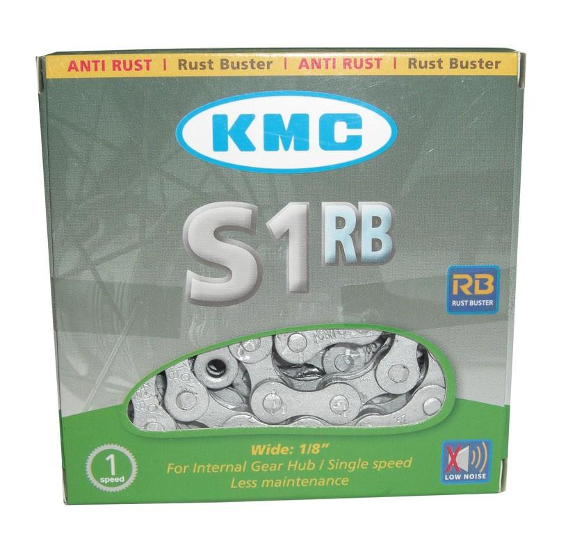 Kette KMC S-1RB Anti-Rost1/2 x 1/8, 112 Glieder, 8,6 mm, silber