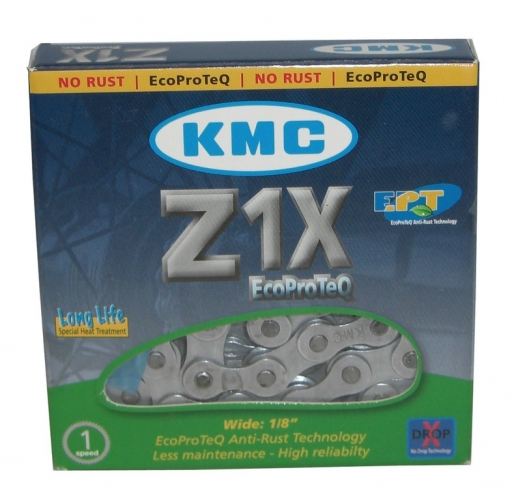 Kette KMC Z1X EPT EcoProteQ Anti-Rost1/2 x 1/8, 112 Glieder, 8,6mm, LongLife
