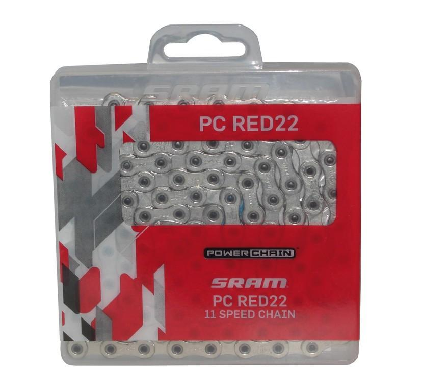 Schaltungskette Sram PC Red22 HollowPin114 Glieder 11-fach mit Power-Lock